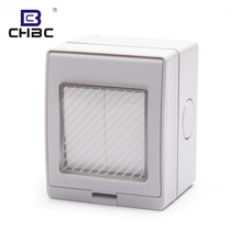 CHBC Customize IP55 Waterproof Electric 2 Gang 1 Way Wall Switches For Home