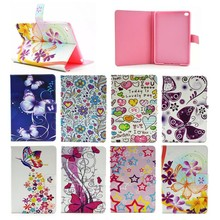 Fancy Tower/flower/butterfly Flip Leather Wallet case for ipad mini, for ipad mini4 PU Leather case, New coming