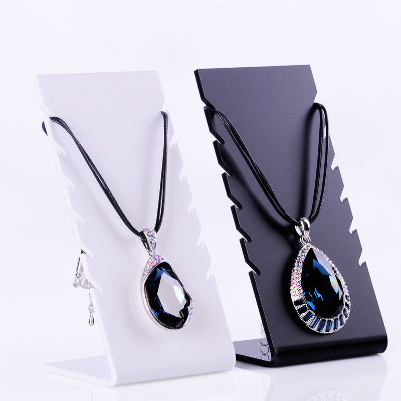 Tactory price plexiglass necklace display card customized jewelry display cabinet