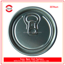 Aluminium ring pull tab 307#SOT beer can lid