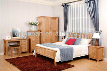 Solid oak bedroom furniture(wooden furniture)