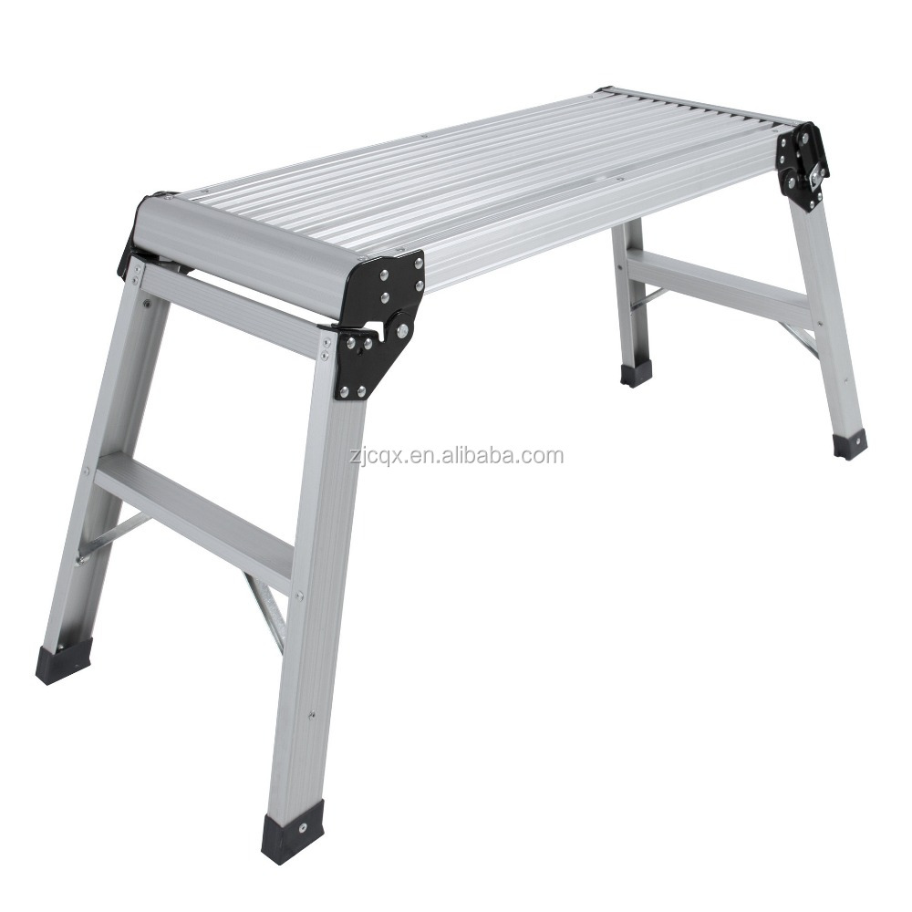 Aluminum Platform Drywall Step Up Folding Work Bench Stool Ladder