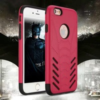Hot selling High quality fashion anti shock Batman style PC and TPU 2in1 armor phone case for iphone 7 7plus case