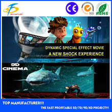9d cinema/2014 the most profitable project for 5D theater,9d 12d cinema in theme park