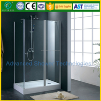 L shape ABS tray shower enclosure with CE certificate