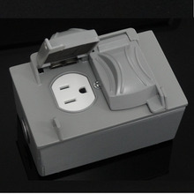 IP66 Protection Level Electric iron floor plug socket box suit for nema receptacle