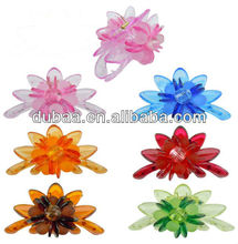 Fashion Clear Lily Flower Style Colorful Plastic Claw Hair Clip Clamp,High Quality Acrylic Clear Hair Claw Clips