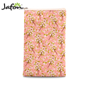 Salmon Color Small Floral Travel Cosmetic Brush Holder Bags for Cosmetics and Makeup brushes