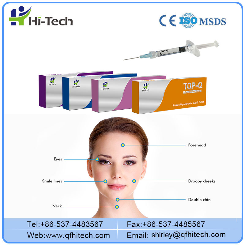TOP-Q 2ml Fine Derm Deep Facial Dermal Filler for Lip Cheek Surgery Cost