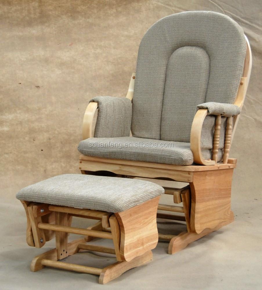 Gamuza blanca blanco madre de madera mecedora con otomana sillas de madera identificaci n del - Mecedora madera blanca ...