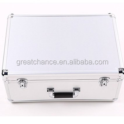 DJI Phantom 3 Professional & Advanced Silver Aluminum Case for Rc Propguard Transmitter Ar Drone Quadcopter FPV
