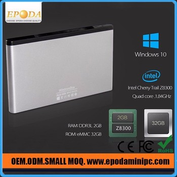 Windows 10 TV Stick Quad Core Intel Atom Z8300 CPU 2G/32G HDMI BT 4.0 Intel Pocket Mini PC