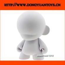 Vinyl White DIY PVC Munny Figure Toy