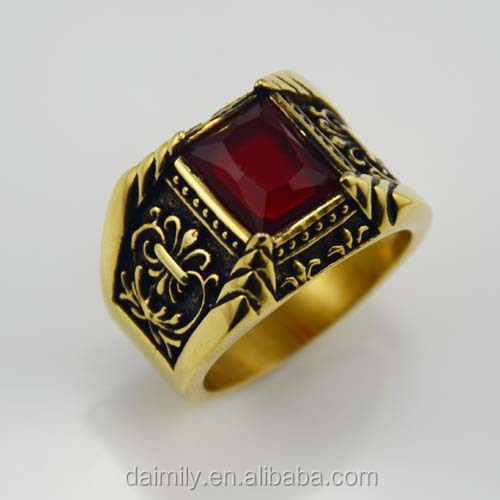 Fashion vintage Gold plating personalized gothic ring