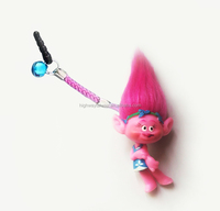 Princess Poppy new troll doll 4.5 cm PVC figure mobile phone hanging