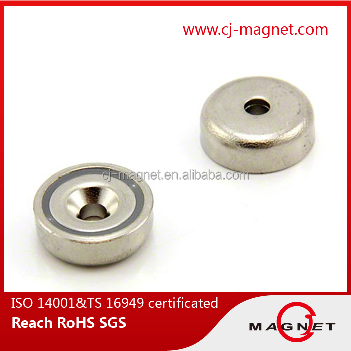pot permanent neodymium magnet for Industry speaker application produced in China
