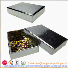 Disposable silver foil box for chocolate packaging CHF0285
