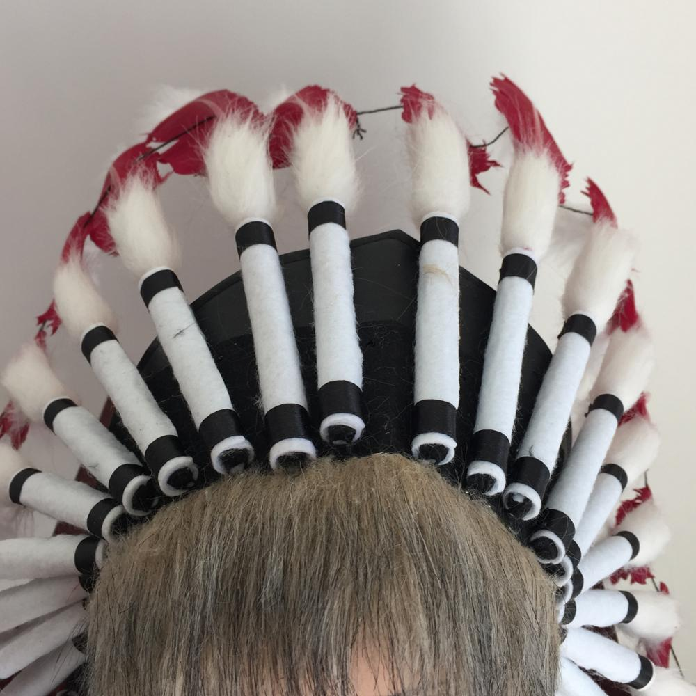 Popular Carnival Native American indian feather headdress