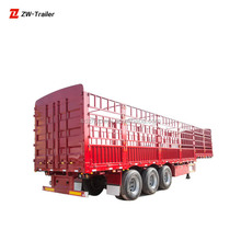 tri axle sheep cow cattle livestock transport fence semi trailer