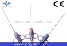 Soft tissue disposable biopsy needle / gun with ISO/CE