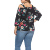 Fat Women Plus Size Off Shoulder Flower Blouse No MOQ