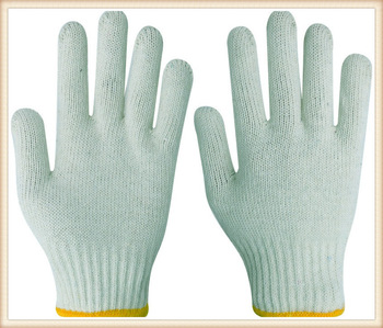 cotton gloves work gloves string knit 20-25cm white mens gloves