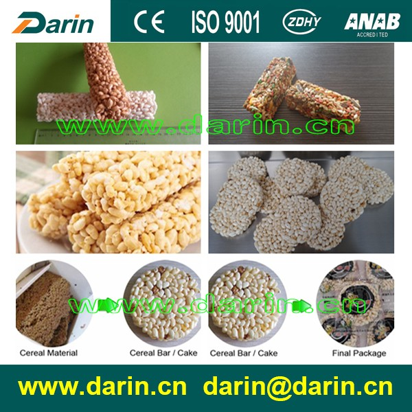Crispy Pop Rice Cake/Millet Snack Bar Manufacturing Machine