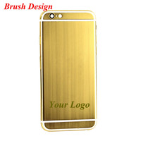 24ct brushed gold plating edition custom aluminum housing for iphone 6s