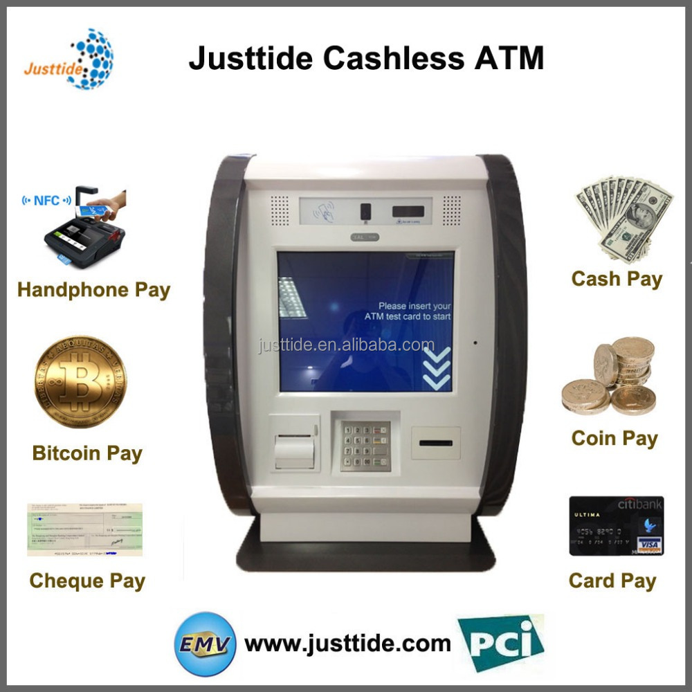 Justtide Factory Price Mini Touch Kiosk, Touch ATM, Touch Machine