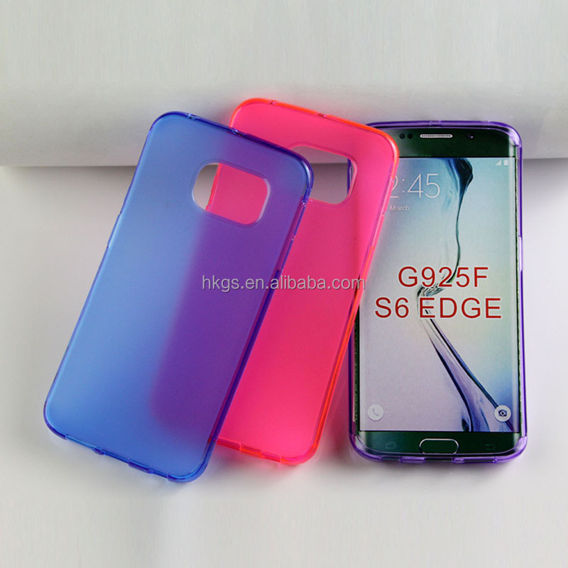 Ali express Canada Matte Skin Pudding Soft TPU For Samsung Galaxy S6 Edge G925F G9250 Cover Case