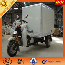 3 wheel motorcycle motorized closed cargo box for adults