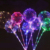 2018 hot sale high quality clear 18inch bobo balloon with led light for party decoration