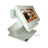 small 10.1 inch tft LCD POS termnal system with customer display&MSR
