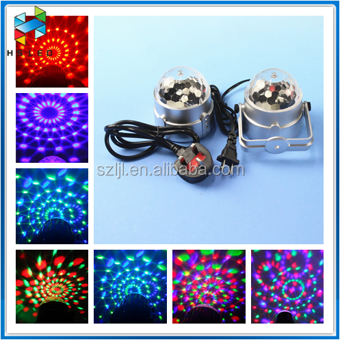 Mini multi color crystal projector auto/sound mode LED crystal magic ball light