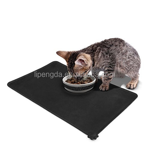 Wholesale silicone rubber placemats for dog food bowl large pet feeding mat