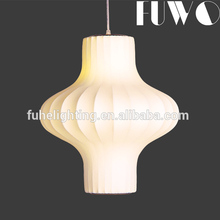 Wholesale customized hotel indoor decorative silk fancy lantern lamp pendant light modern