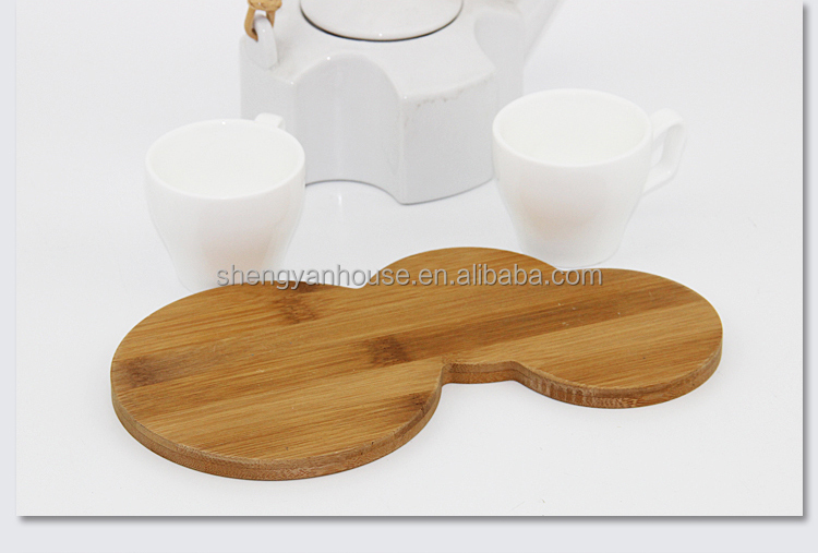 Eco-friendly teak wood serving tray