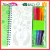 Non toxic activity book wholesale, Magic book wholesale, color pens book wholesale