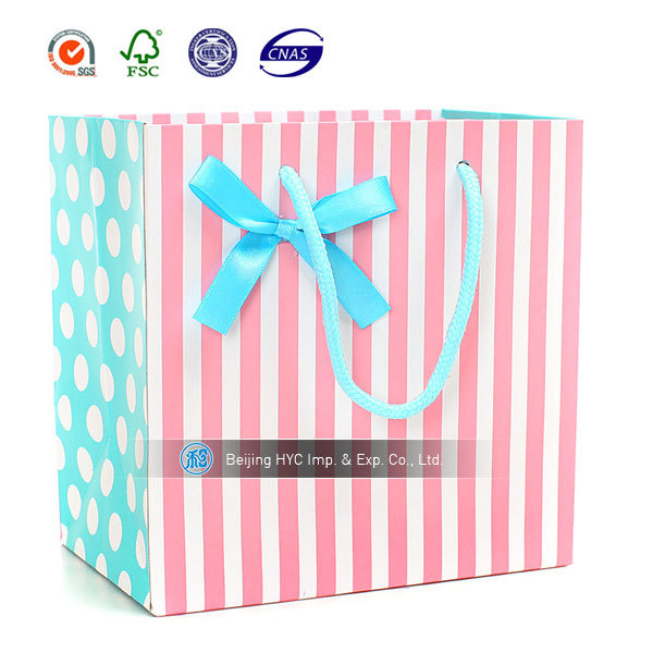 Pink zebra gift bags with rope handle wholesale high quality