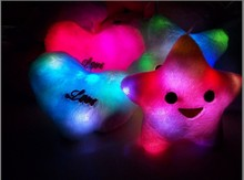 LED pillow/led light up pillow/colorful shining led light pillow lucky star led pillow