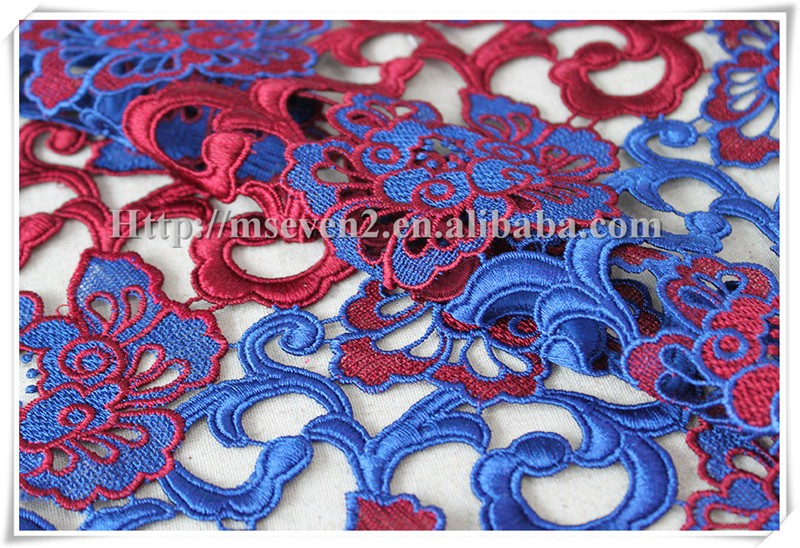 Latest Hot Selling!! custom design delicate embroidery lace fabric