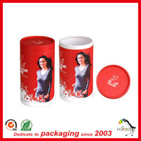 Clothing packaging tube round cardboard t-shirt tube carboard t shirt tube