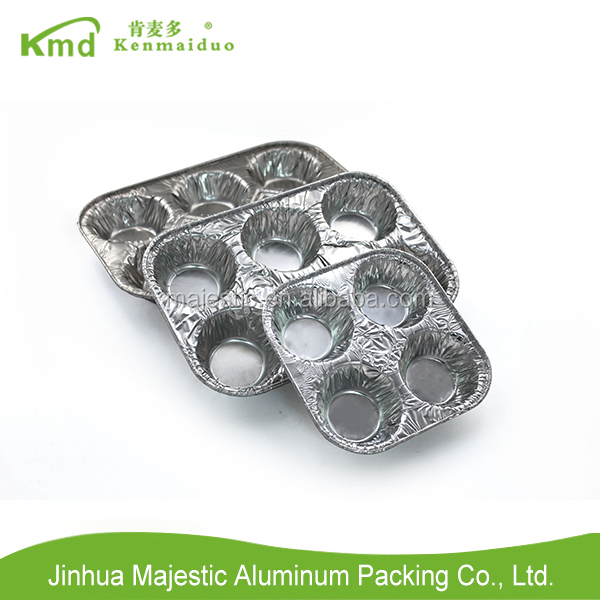 Disposable Aluminum foil 6 cup muffin pan