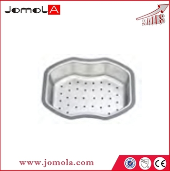 Wire metal dish kitchen stainless steel sink basket F22006