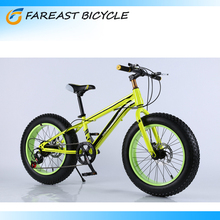 New 7 Speed Fat Tire 4.0 Fat Tire Mountain Bike 20 Inch Snow Bicycle/ Green Red White Blue