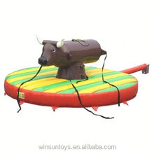 Inflatable Bungee Bull with Circular Bed