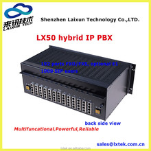 Hybrid swtich Cheap VoIP pbx/pabx telephon system, LX50