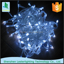 outdoor 100 LED bulbs red chassing string christmas lights