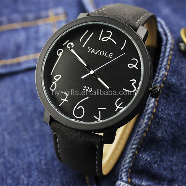 Hot fashion colorful couple quartz leather watch casual wrist watch