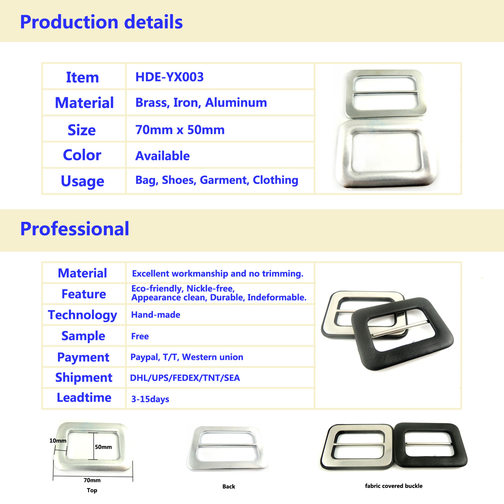 garment buckle,cloth covered buckle